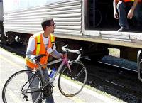 Justin LaFontaine loads Bike Train