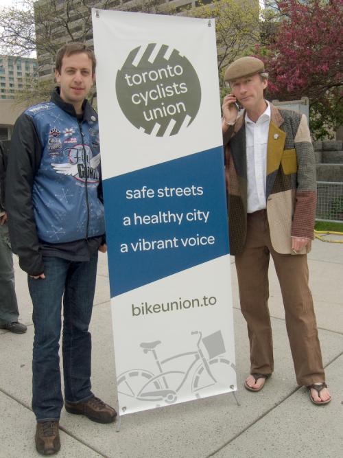 Toronto Cyclists Union Founder Dave Meslin and Coordinator Rick Conroy