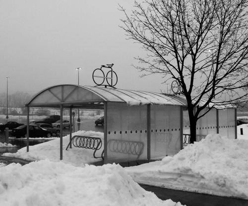 GO Transit Bike shelter