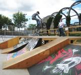 BMX ramps at Wallace Emerson Park (July 1 2007)