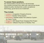 Road pricing Forum