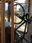 Bike hanger on streetcar