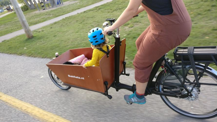 cargo bike on the path