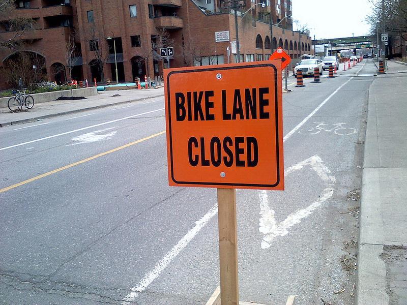 Bike Lane Closed by Tino
